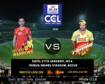 Chennai Rhinos vs Telugu Warriors Highlights, Match Result, Photos, Final Scorecard