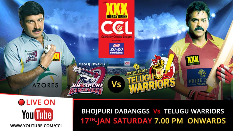 Bhojpuri Dabanggs vs Telugu Warriors Live Stream