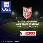 Bengal Tigers main Sponsor is Hero Cycles in CCL 2017